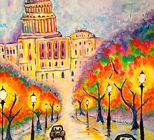 Washington D.C. - The Capitol at Dusk by Justin Fiske