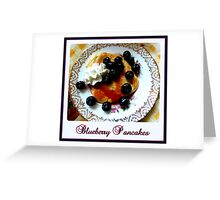 Blueberry Pancakes Greeting Card