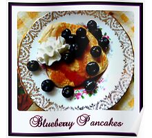 Blueberry Pancakes Poster