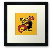 detective dragon & friend - sherlock hobbit parody Framed Print