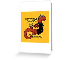 detective dragon & friend - sherlock hobbit parody Greeting Card