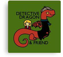 detective dragon & friend - sherlock hobbit parody Canvas Print