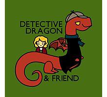detective dragon & friend - sherlock hobbit parody Photographic Print