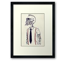 The Gentleman becomes a Hipster Framed Print