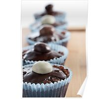 Row of Cupcakes Poster