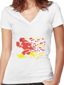 8 Bit Lightning Women's Fitted V-Neck T-Shirt