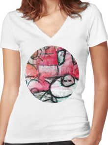 breaking the house Women's Fitted V-Neck T-Shirt