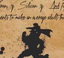 An Alchemist Note Sticker