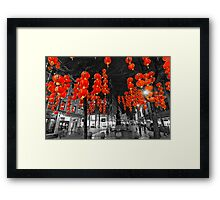 Chinese Lanterns (Selective colour) Framed Print