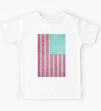 Vintage USA Flag Kids Tee