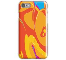 Abstract Orange Design iPhone Case/Skin