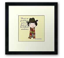 If You Can't Be Childish Sometimes -- Fourth Doctor quote print Framed Print