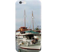 fishing boats and sailboats iPhone Case/Skin