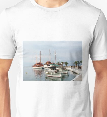 fishing boats and sailboats Unisex T-Shirt