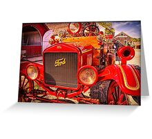 Firefighting Ford 1 Greeting Card