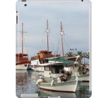 fishing boats and sailboats iPad Case/Skin