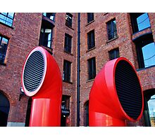 Red vents Photographic Print
