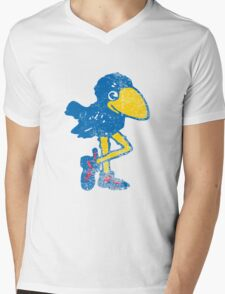 Vintage Jayhawk Mens V-Neck T-Shirt