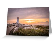 Peggy's Cove Sunset Greeting Card