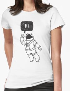 Greetings from space Womens Fitted T-Shirt