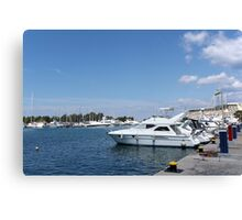 luxury yacht and boats Canvas Print
