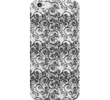 Black and White Swirls iPhone Case/Skin