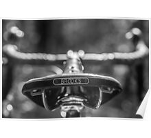 Brooks Bicycle Saddle  Poster