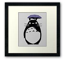 Totoro on a rainy day Framed Print