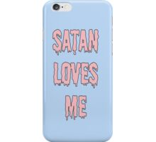 Satan Loves Me - Pink Drip Letters iPhone Case/Skin