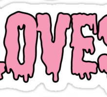 Satan Loves Me - Pink Drip Letters Sticker