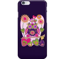 Flower power Owl in Love, decorative vector case iPhone Case/Skin