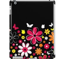 Abstract Flowers w/black background iPad Case/Skin