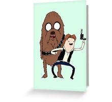 Space Adventure! Mans Best Friend Greeting Card