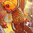 Golden Koi by Lynnette Shelley