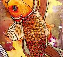 Golden Koi by Lynnette Shelley