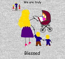 Blessed 6 children Womens Fitted T-Shirt