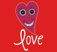 Cartoon Heart - LOVE One Piece - Short Sleeve