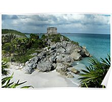 The Ruins of Tulum Poster