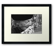 Portraits : BEST Marie, kindness au Naturel,  version 11 Black & White  collector  1977  11  (c)(h) by Olao-Olavia / Okaio Créations Framed Print
