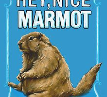 BIG LEBOWSKI- the Dude - Hey, Nice Marmot by MichelleEatough