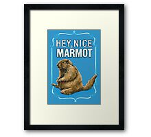 BIG LEBOWSKI- the Dude - Hey, Nice Marmot Framed Print