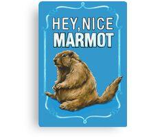 BIG LEBOWSKI- the Dude - Hey, Nice Marmot Canvas Print