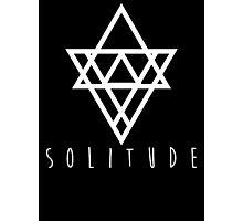 Solitude - simple small - black Photographic Print