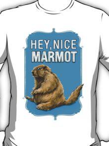 BIG LEBOWSKI- the Dude - Hey, Nice Marmot T-Shirt