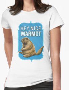 BIG LEBOWSKI- the Dude - Hey, Nice Marmot Womens Fitted T-Shirt