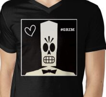 #GRIM Mens V-Neck T-Shirt