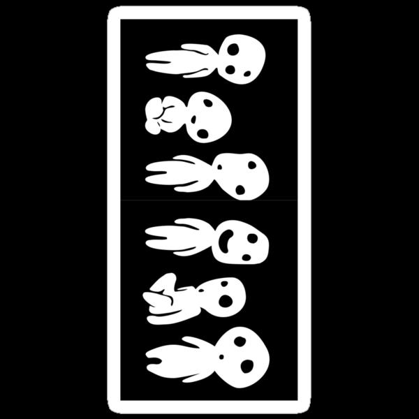 Kodama (Tree spirits) Sticker by bassfuto