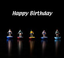 Footballers Birthday Card by Alan Organ LRPS