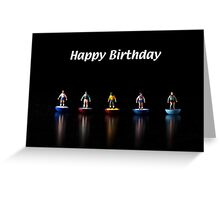Footballers Birthday Card Greeting Card