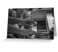 Hands On Piano Greeting Card